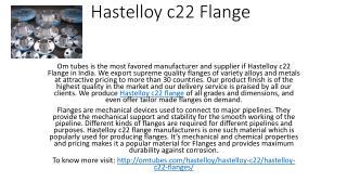 Hastelloy c22 Flange