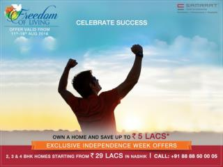 2, 3 & 4 BHK Homes Starting from ` 29 LACS In Nashik