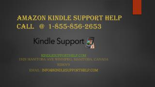 Amazon Kindle Support help Call @  1-855-856-2653
