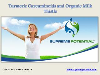Turmeric Curcuminoids and Organic Milk Thistle
