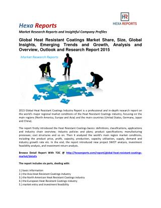 Heat Resistant Coatings Market Share, Size, Analysis and Forecast
