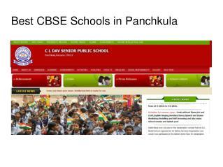Best CBSE Schools in Panchkula