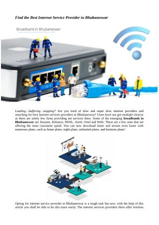 Find the Best Internet Service Provider in Bhubaneswar