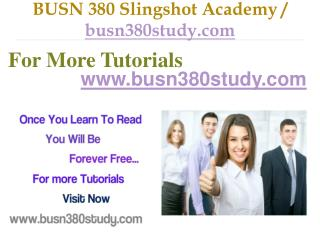 BUSN 380 Slingshot Academy / busn380study.com