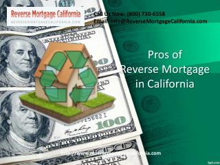 Reverse Mortgage California Pros
