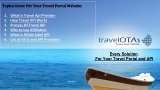 Travel Portal Development: How Travel API Works and List of Best Travel API Providers