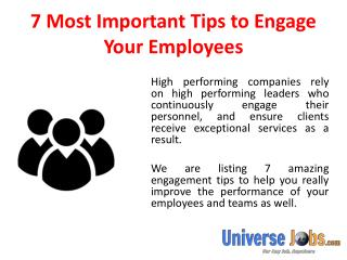 7 Most Important Tips to Engage Your Employees