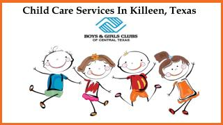 Child Care Services In Killeen, Texas