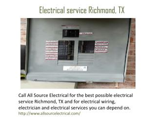 Electrical service Richmond, TX