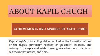 About Kapil Chugh