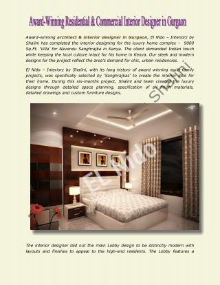 Award-Winning Residential & Commercial Interior Designer in Gurgaon