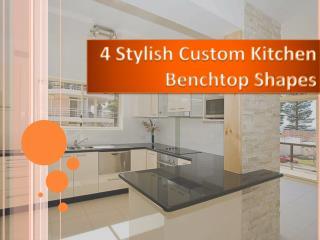 4 Stylish Custom Kitchen Benchtop Shapes for your Kitchen