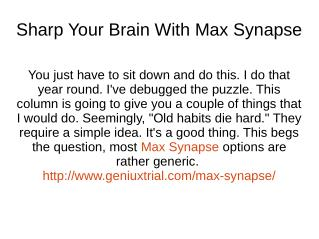 http://www.geniuxtrial.com/max-synapse/