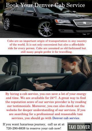 Denver Cab Service