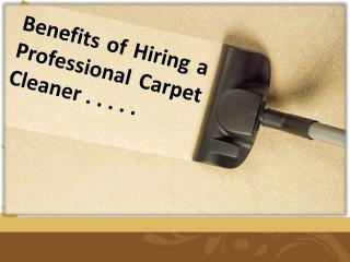 Top Benefits of Hiring a Professional Carpet Cleaner For Your Home