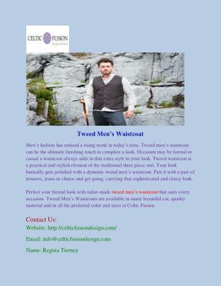 Tweed Men's Waistcoat
