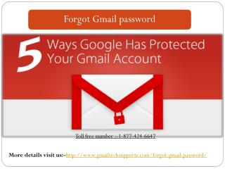 FORGOT GMAIL PASSWORD TOLL FREE NUMBER