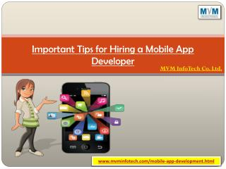 Important Tips for Hiring a Mobile App Developer
