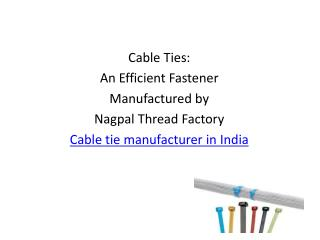 cable ties suppliers