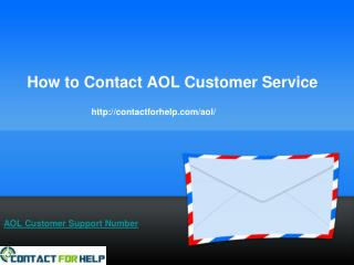 How to Contact AOL Customer Service