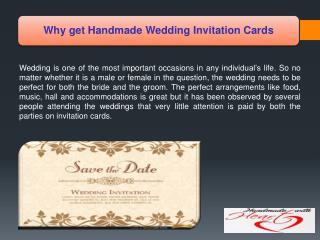 Why get Handmade Wedding Invitation Cards