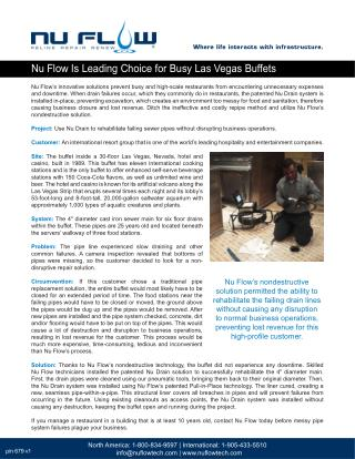 Nu Flow Is Leading Choice for Busy Las Vegas Buffets