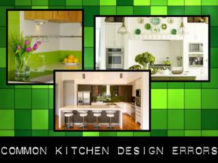 Common Kitchen Design Errors