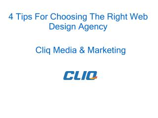 4 Tips For Choosing The Right Web Design Agency