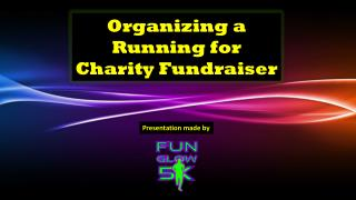 Organizing a Running for Charity Fundraiser