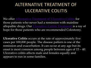 Alternative Treatment of Ulcerative Colitis � Ulcerativecolitiscure