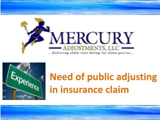 Experienced Public Adjuster