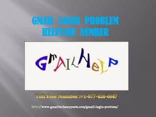 Gmail login problem (877)-424-6647 Phone Number