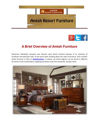 A Brief Overview of Amish Furniture