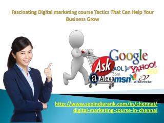 Fascinating Digital marketing course Tactics That Can Help Your Business Grow