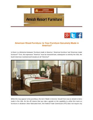 American Wood Furniture: Is Your Furniture Genuinely Made in America?