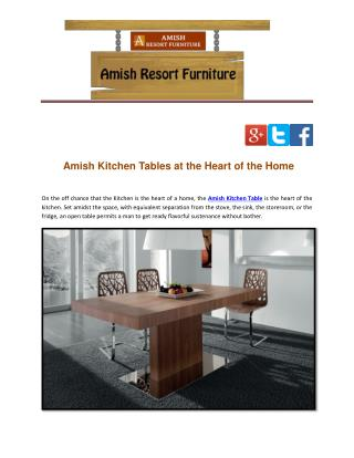 Amish Kitchen Tables at the Heart of the Home