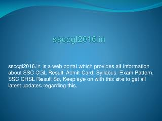 SSC CGL 2016 Exam Pattern