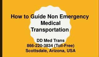 How to Guide Non Emergency Medical Transportation