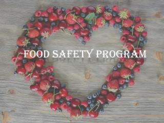 Food Safety Program – BD Food Safety