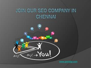 Join Our SEO Company in Chennai