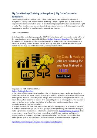 Hadoop Training In Bangalore | Hadoop Training | IIHT