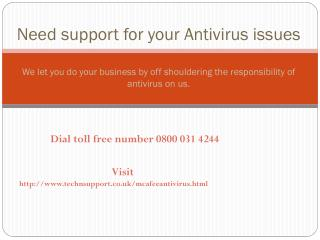 McAfee Antivirus Tech Support UK