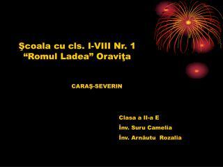 Scoala cu cls. I-VIII Nr. 1  Romul Ladea  Oravita
