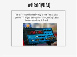 ReadyDAQ Data Logger System Software
