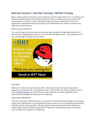 RHCSA Training | Red Hat Courses