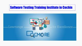 software testing training institutes in Cochin