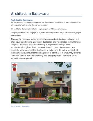 Architect in banswara