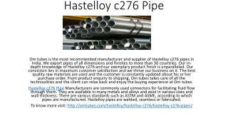 Hastelloy c276 Pipe