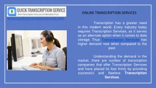 Get Online Transcription Services from QTS at Affordable Rates
