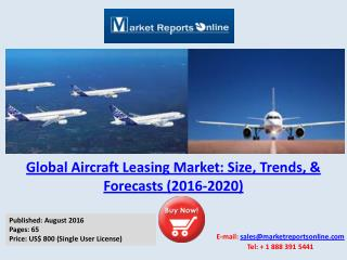Aircraft Leasing Market Analysis 2016